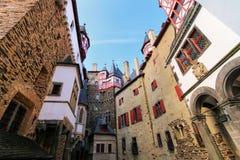 Walls surrounding inner courtyard of Eltz Castle in Rhineland-Pa Royalty Free Stock Photo