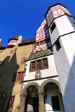 Walls surrounding inner courtyard of Eltz Castle in Rhineland-Pa Stock Image