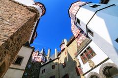 Free Walls Surrounding Inner Courtyard Of Eltz Castle In Rhineland-Palatinate, Germany Stock Image - 101710311
