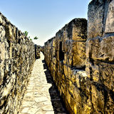 Walls Surrounding the Old City in Jerusalem Stock Image