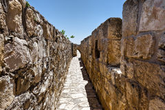 Walls Surrounding the Old City in Jerusalem Stock Photos