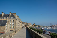 Walls of St Malo Stock Photos