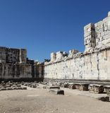 Walls Temple of Apollo Didim Royalty Free Stock Images