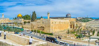 The walls of the Temple Mount Stock Photography