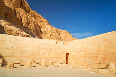 Walls of the Temple of Queen Hatshepsut Stock Image