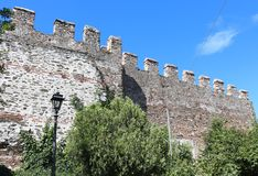 The Walls of Thessaloniki, Greece Royalty Free Stock Image