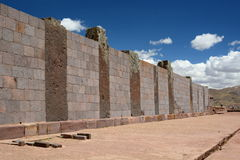 Walls. Tiwanaku archaeological site. Bolivia Royalty Free Stock Images
