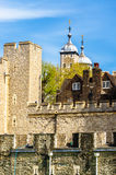 Walls of the Tower of London Stock Photo