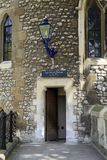 On the walls of the Tower of London. LONDON, GREAT BRITAIN - MAY 16, 2014: This is the passage to the Lanthorn Tower from the side of the fortress walls of Stock Photo