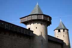Walls and tower of the medieval castle Royalty Free Stock Photography