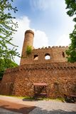 Walls and tower ruins of old Auerbach castle. Auerbach castle walls and tower ruins in southern Hesse, Germany Europe Stock Images