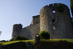Walls and towers. Of the castle in Gorizia, Italy Royalty Free Stock Photography