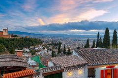 Granada. The fortress and palace complex Alhambra. Royalty Free Stock Photography