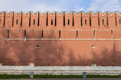 Walls and towers of the fortress monastery Moscow Russian sumer Royalty Free Stock Photos