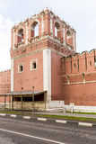 Walls and towers of the fortress monastery Moscow Russian sumer Royalty Free Stock Image