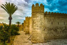 The fortress of Ribat of Sousse in Tunisia. Stock Image