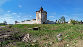Walls and towers of Kirillo-Belozersky monastery Royalty Free Stock Photos