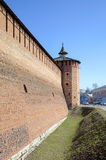 Walls and towers of Kremlin in Kolomna Royalty Free Stock Images