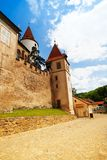 Walls and towers of Krivoklat castle Royalty Free Stock Image