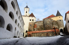 Walls and towers of medieval castle Palanok,Mukachevo,Ukraine Royalty Free Stock Photos