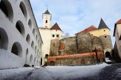 Walls and towers of medieval castle Palanok,Mukachevo,Ukraine Royalty Free Stock Photos