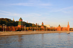 Walls and towers of the Moscow Kremlin. Russia Royalty Free Stock Image