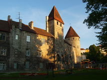 Walls and towers in Tallinn Stock Photo