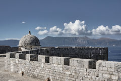 Walls Venetian fortress on the island Stock Photography