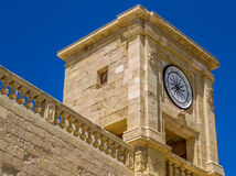 Walls of the Victoriam Gozo citadel Stock Images