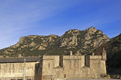 Walls of Villefranche de Conflent; Languedoc Roussillon; Pyrenee. S Orientales; France Royalty Free Stock Images