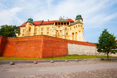 Walls of Wawel Royal Castle in Krakow, Poland Stock Photos