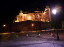 Walls of Wawel Royal Castle in Krakow Stock Images