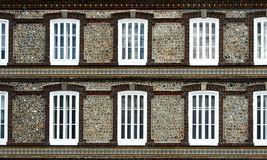 Walls and windows. Background with walls and white windows Stock Photos