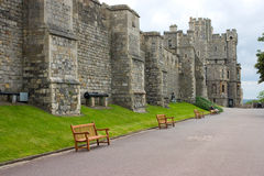 Walls of the Windsor Castle. UK Royalty Free Stock Photo