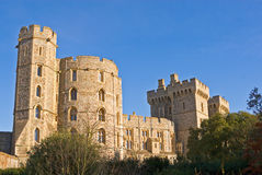 The walls of Windsor Castle Stock Photography