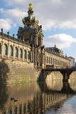 Walls Zwinger palace in Dresden Stock Images