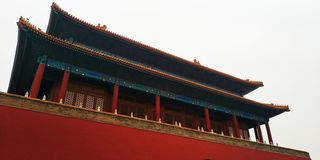 WallThe Forbidden City Wall is very suitable as a wallpaper, this is the original picture to correct him and then change the satur royalty free stock photography