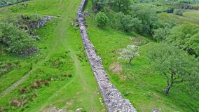 The Walltown Crags at World heritage site Hadrian`s Wall in the beautiful Northumberland National Park