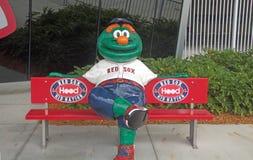 Wally il mostro verde allo stadio di JetBlue in Fort Myers, Florida Immagini Stock Libere da Diritti