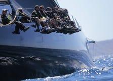 Wally klasa wysyła regatta w Mallorca fotografia royalty free