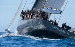 Wally class regatta in mallorca Royalty Free Stock Photos