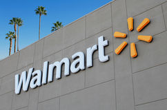 Walmart. Palm Springs, California, USA - November 28, 2012: The front facade of a Walmart supercenter Stock Images