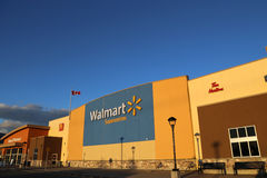 Exterior shot of a Walmart Store Stock Images