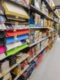 Walmart bokhylla royaltyfria foton