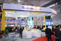 Walmart booth Royalty Free Stock Photo