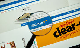 Walmart internet page Royalty Free Stock Photos