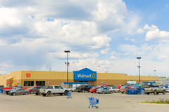 The walmart parking lot at whitehorse Royalty Free Stock Photos