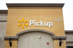 Walmart Pickup znak obrazy stock