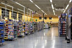 Walmart Retail Company. Walmart is an American multinational retail corporation that operates a chain of discount department stores and warehouse stores. Photo Stock Photos