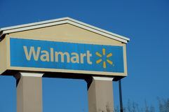 WALMART STORE BILLBOARD IN KINGMAN ARIZONA. KINGMAN/ARIZONA , USA 13 December  2017.Walmart store   in Kingman Arizona .  Photo.Francis Dean/Dean Pictures Stock Image